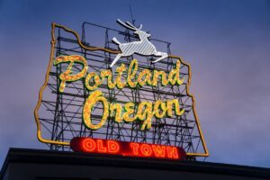 Moving to Portland, OR sign